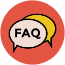 comments bubble, faq, faq bubble, faq chat, faq panel, question, speech bubble icon
