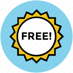 free, free offer, offer sticker, offer tag, offers, shopping icon