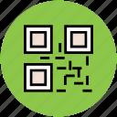 barcode matrix, qr code, qr label, quick response code, scanning code icon