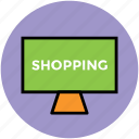 board, chalkboard, screen, shopping board icon