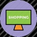 board, chalkboard, screen, shopping board icon