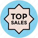 label, popular sales, sale tag, sticker, tag, top sales icon
