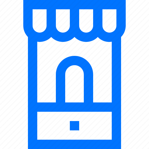 e commerce, mobile, online, phone, shop, shopping icon