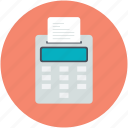 adding machine, calculation, calculator, economic, receipt icon