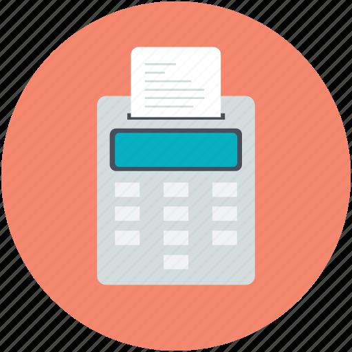 adding machine, calculation, calculator, economic, receipt icon