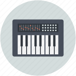 electronic piano, musical instrument, musical keyboard, piano keyboard, piano keys icon