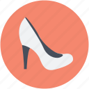 footwear, high heel, prism heels, pump shoes, womens shoes icon
