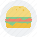 burger, fast food, food, junk food, snack food icon