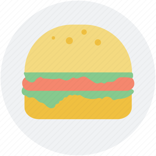 burger, fast food, food, junk food, snack food icon