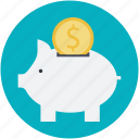 deposit, economy, finance, investing, piggy bank icon