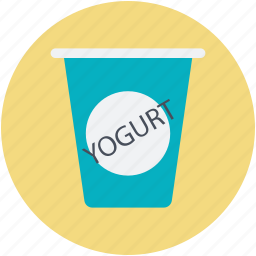 dairy product, food container, natural food, product packaging, yogurt icon