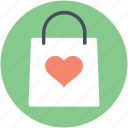 gift offer, heart sign, shopping bag, special offer, tote bag, valentine day, valentine gift