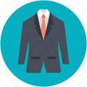 business clothes, mens suit, necktie, suit, wedding dress icon