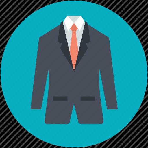 business clothes, mens suit, necktie, suit, wedding dress icon