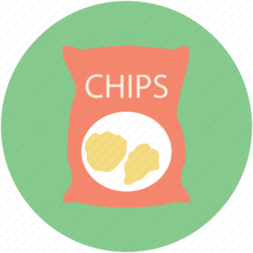 chips pack, potato chips, potato crisps, snack food, snacks icon