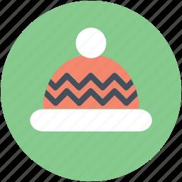 baby cap, headwear, winter hat, woolen cap, woolen pompom icon