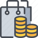 bag, business, coin, commerce, payment, shop, shopping icon