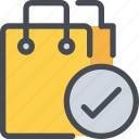 bag, check, shop, shopping, store icon