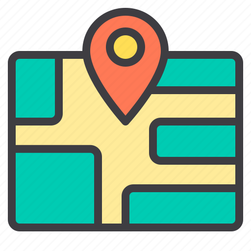 commerce, map, sale, shopping, store icon