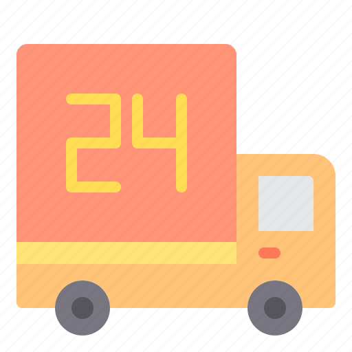 commerce, delivery, hour, sale, shopping, store icon