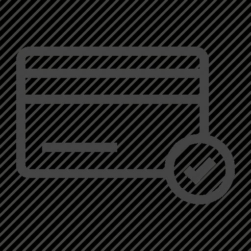 buy, card, ecommerce, ok, online, shop, shopping icon