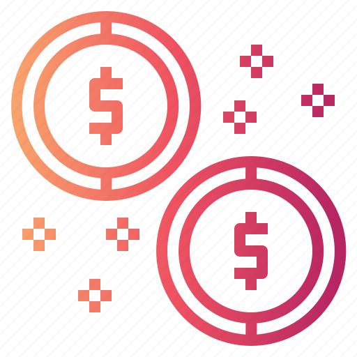 business, coins, currency, money icon
