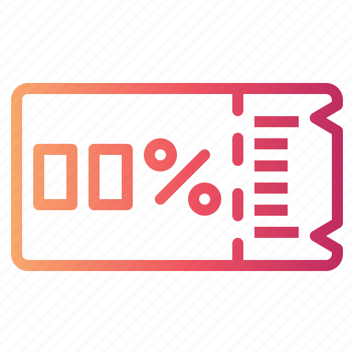 discount, sale, shopping, voucher icon