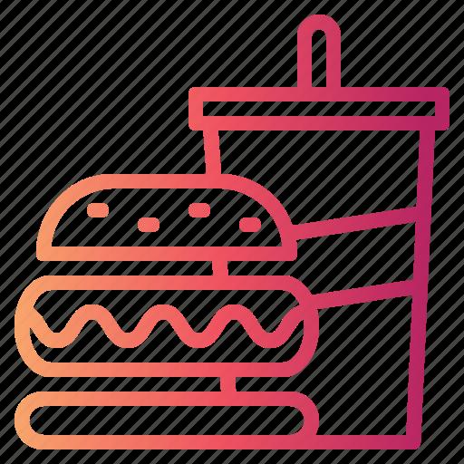 fast food, food, hamburger, menu icon