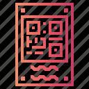 code, multimedia, qr icon