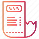 bill, invoice, payment, receipt icon