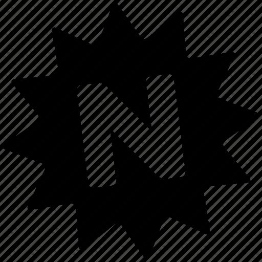 Badge, burst, n, new, offer, sale, star icon - Download on Iconfinder
