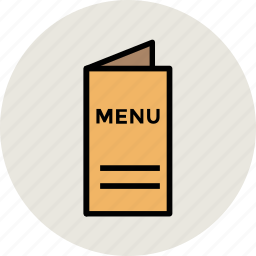 booklet, catalog, menu, menu book, restaurant menu icon