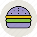 burger, chicken burger, fast food, hamburger, junk food, steak burger, veggie burger icon