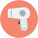 blow dryer, hair dressing, hair dryer, hair salon, salon electricals icon