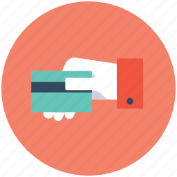bank card, cash card, credit card, hand gesture, plastic money icon