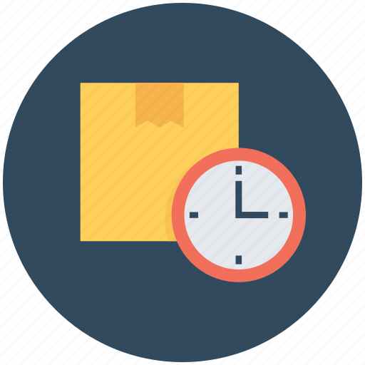 box, delivery schedule, delivery time, package, parcel icon