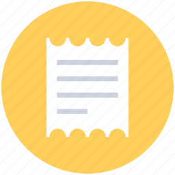 bill, document, invoice, ticket, voucher icon