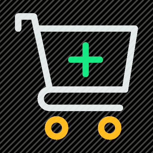 add, bag, cart, hand, shop, shopping icon