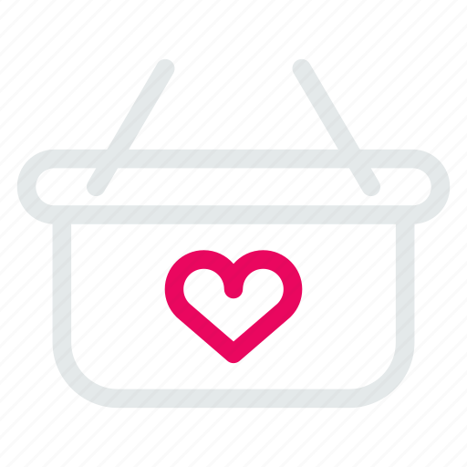 bag, ecommerce, hand, heart, shop, shopping icon