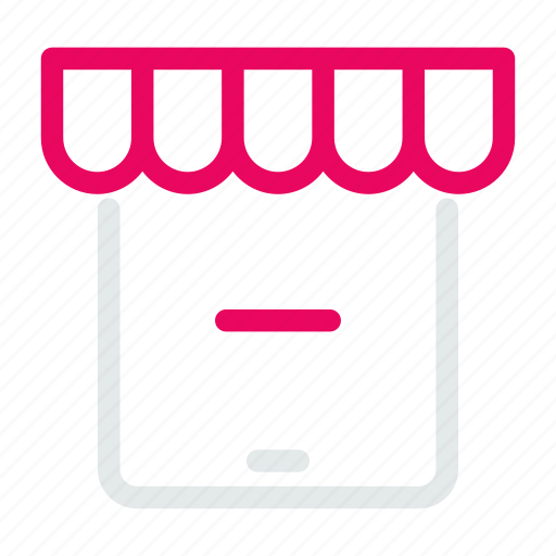 clear, device, market, minus, shopping, store, tablet icon