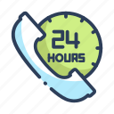 customer, hours, service, shopping icon