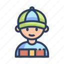 courier, delivery, shopping icon