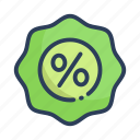 discount, shopping, sign icon