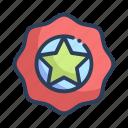 badge, favorite, shopping, star icon