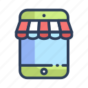 online, shopping, store icon