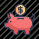 bank, piggy, shopping icon