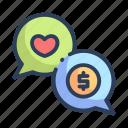 communication, shopping icon