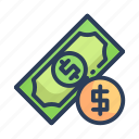cash, dollar, finance, payment, shopping icon