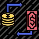 cash, change, exchange, money, swap