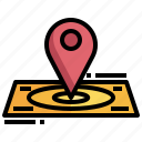 area, location, mark, point, site